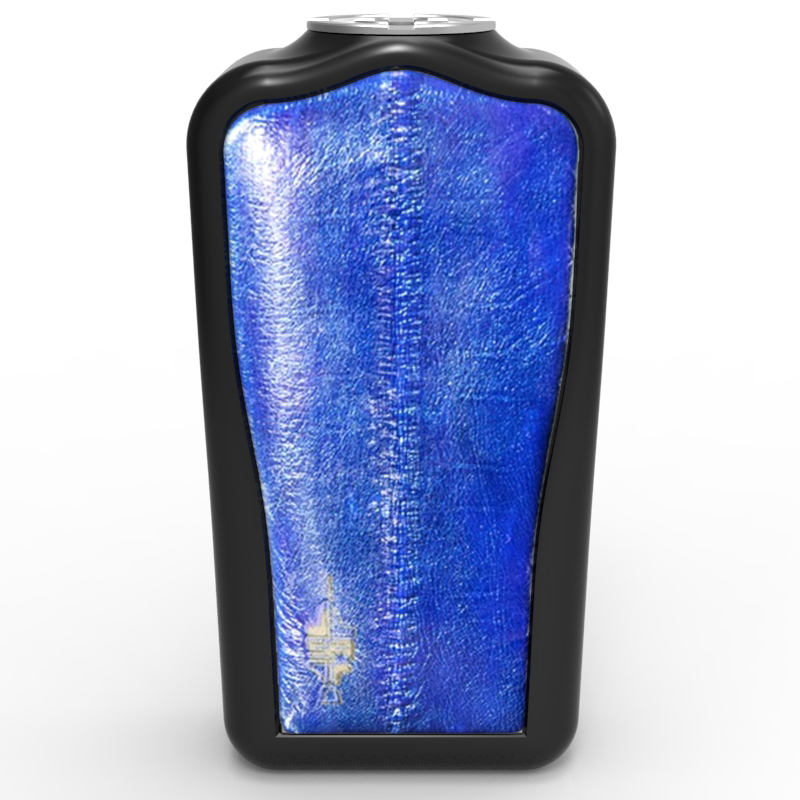 Aal-Leder-Blau-gepolstert